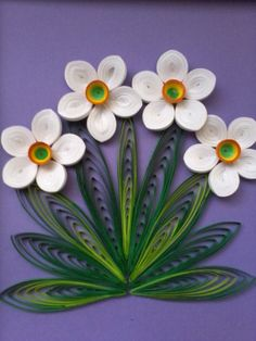 Quilled daisies