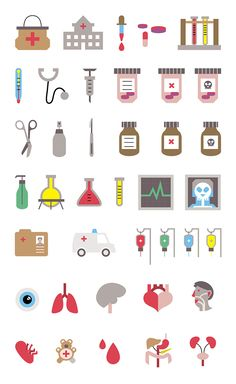 health icon Medical Icon Set on Behance Medical Symbols, Medical Icon, Medical Logo, Nursing Wallpaper, Medical Wallpaper, Icon Design, Web Design, Graphic Design, Flat Design