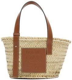 Loewe Beige and Tan Small Basket Tote Baskets, Loewe Bag, Jacquemus, Best Designer Bags, Bags 2018, Straw Tote, Basket Bag, Couture, Beige