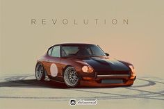Awesome rendering of an already beautiful beast. What's in your garage? 240z Datsun, Datsun Car, Nissan Z Cars, Jdm Cars, Japanese Sports Cars, Mens Toys, Japan Cars, Amazing Cars, Sport Cars