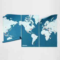世界地図 - Pin World - Xラージ by PALOMAR