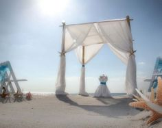 Suncoast weddings present subtle shades with turquoise sashes and starfish for the perfect Florida beach wedding look