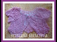 ▶ Жакет-болеро для девочки вязаный крючком. Часть 1.Bolero jacket for girls crocheted. Part 1. - YouTube