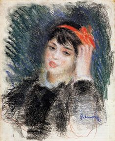 Head of a Young Woman Pierre Auguste Renoir - 1878-1880