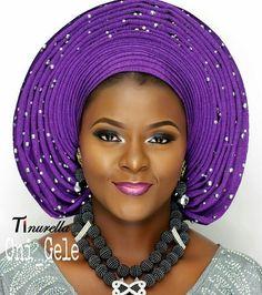 "4,114 Likes, 12 Comments - Africa's Top Wedding Website (@bellanaijaweddings) on Instagram: ""Purple Ombre  Makeupby @tinurella  Gele by @oni_gele  Bead by @jenrewa  #BellaNaijaWeddings"""