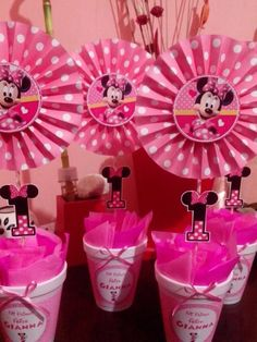 centros de mesa infantil minnie rosa Minnie Mouse Birthday Theme, Kids Birthday Themes, Minnie Mouse Pink, Minnie Mouse Party, 1st Birthday Girls, Mouse Parties, Diy Party Decorations, Birthday Decorations, Party Themes
