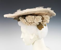 Hat Madame Virot  Date: ca. 1902 Culture: French Medium: silk, linen Dimensions: 7 x 17 in. (17.8 x 43.2 cm) Credit Line: Brooklyn Museum Costume Collection at The Metropolitan Museum of Art, Gift of the Brooklyn Museum, 2009; Gift of Martin Kamer, 1989