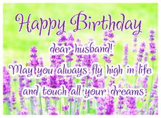 Happy birthday dear husband! greetingshare