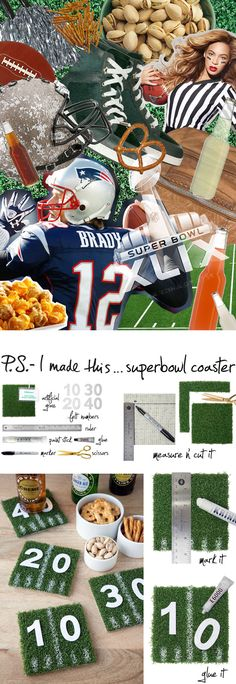 P.S.- I made this...Superbowl Coasters #PSIMADETHIS #DIY