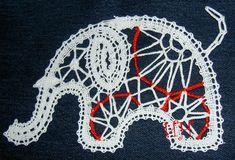 Bobbin Lace Patterns, Lace Making, String Art, Tatting, Ornaments, Projects, Ideas, Elephants, Lace
