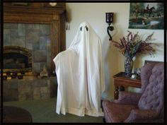Creepy mannequin joins the Halloween party.