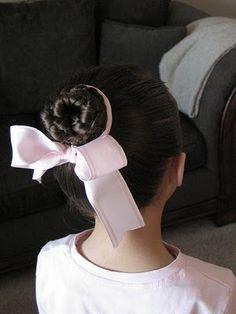 ballet braid bun good idea for her recital :)