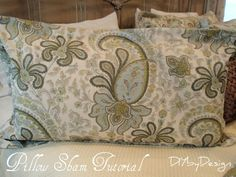 A few weeks ago I purchased this beautiful duvet cover from Pottery Barn. Unfortunately, Pottery Barn does not sell king size pillow sh. King Pillows, King Size Pillow Shams, King Duvet, Quilting Projects, Sewing Projects, Sewing Ideas, How To Make Pillows, Designer Pillow, Pottery Barn