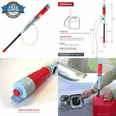 1pc Car Electric Liquid Transfer Pump Handheld Battery Operated Portable Water Gas Tools Siphon Hose For Auto Vehicle Outdoor Crazy Price Inflatable Pump