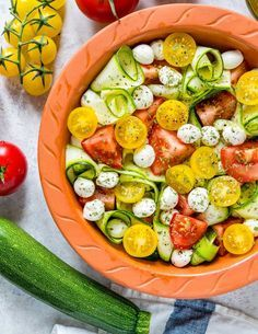 Fresh Summertime Zucchini Caprese is Perfect for Your Clean Eating Goals! - Clean Food Crush