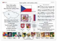 Sensory Boxes, Teaching History, Elementary Science, School Projects, Czech Republic, Worksheets, Kindergarten, Homeschool, The 100