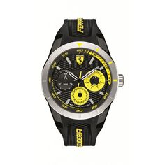 Zegarek Scuderia Ferrari Red Rev T 0830257 - Salon Time Trend Ferrari Watch, Casio Watch, Watches For Men, Quartz, Colour Black, Mineral, Plastic, Crystal, Type