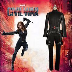 2016 Captain America: Civil War Black Widow Black Battleframe Cosplay Costume custom made size