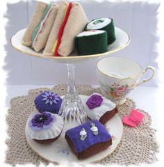 Afternoon Tea Party Felt Play Food purple by MelsCreativeWishes, $28.00