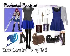 """Erza Scarlet, Fairy Tail"" by fictional-fashion ❤ liked on Polyvore featuring SELECTED, Lija, Monsoon, Molly Bracken, Kenneth Cole Reaction, Commando, Essie, Jennifer Fisher, Rothco and Garrard"