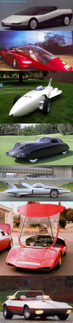 AMAZING 1950'S & 60'S US CONCEPT CARS - 7 SHOT COLLAGE
