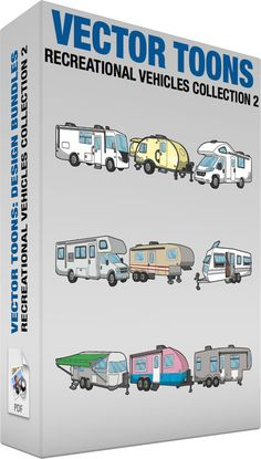 9 Royalty Free Clipart Cartoons: A Cute Caravan An Airstream Trailer With Awning A Class C Motorhome Rv A Fifth Wheel Trailer A Modern Trailer A European Caravan A Teardrop Trailer A Classic Motorhome A Motorhome Vehicle Painting On Glass Windows, Travel Clipart, Rv Financing, Fifth Wheel Trailers, Royalty Free Clipart, Grey Doors, Airstream Trailers, Teardrop Trailer, White Bodies