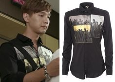 """Ji Hyun-Woo 지현우 in """"Trot Lovers"""" Episode 8. Diesel Spring/Summer 2014 Shirt #Kdrama #TrotLovers 트로트의연인 #JiHyunWoo"""