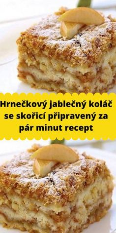 Sweet Recipes, Healthy Recipes, Good Food, Yummy Food, Czech Recipes, Kitchen Time, Thanksgiving Recipes, Food Hacks, A Table
