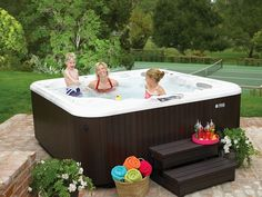 A hot tub is always better with a rubber ducky!
