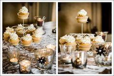 So sweet! Cup cake and candles!!