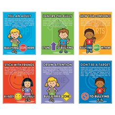 Give kids the tools they need to put an end to bullying with these Anti Bullying character posters.