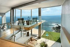 world of architecture: The Laguna Beach Residence, California Porches, Beachfront House, House By The Sea, Amazing Spaces, Interior Exterior, Interior Design, Cool House Designs, Architectural Elements, House Rooms