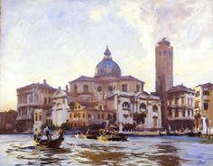 Palazzo Labia et San Geremia - Aquarelle de John Singer Sargent