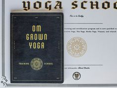 Om Grown Yoga manual & certificate by Keith Davis Young #Design Popular #Dribbble #shots