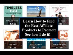 Best Affiliate Products to Promote - How to Find Them Best Home Based Business, D 20, The Help, Letter Board, Promotion, Passion, Learning, Products, Studying
