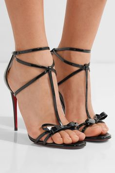dd9dcf504 Christian Louboutin - Blakissima 100 bow-embellished patent-leather sandals