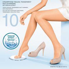 Kunert Fresh-Up panty teenloos.  De Fresh-Up 10 panty is minimaal zichtbaar. En nu helemaal onzichtbaar in open schoenen, want de Fresh-Up panty is er in een toeless versie. Nu kun je genieten van alle lichtheid en soepelheid van de Fresh Up panty met de toegevoegde bonus van vrije, onopgesmukte tenen, zodat je de panty kunt dragen in sandalen en andere open schoenen. Mooie benen en mooie tenen!
