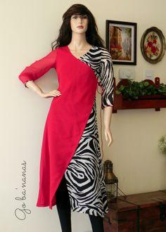 Good combination Salwar Pattern, Kurta Patterns, Dress Patterns, Sewing Patterns, Pakistani Dresses, Indian Dresses, Indian Outfits, Kurtha Designs, Blouse Designs