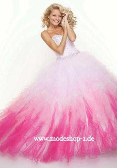 Quinceanera Abendmode 2013 Ballkleid Manitoulin Gr 34 36 38 40 42 44 46 48 50 52 54 56 58 60 62 64 in Weiss Pink Rosa Lila Flieder Violett www.modeshop-1.de