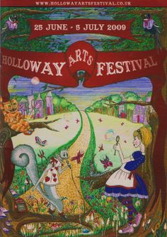Festival poster design based on Alice in Wonderland.
