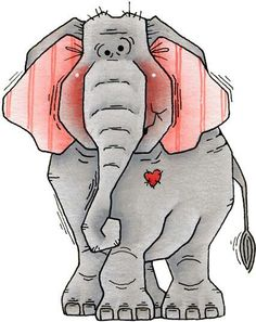 My love of elephants never fails.  <3