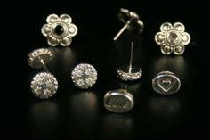 Multi Silver Earrings Handmade by Shen Bettridge Email shenbettridge@gmail.com