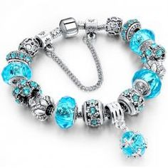 Bracelets LongWay European Style Authentic Tibetan Silver Blue Crystal Charm Bracelet for Women Original DIY Beads Jewelry Christmas Gift ** This is an AliExpress affiliate pin. Locate the offer on AliExpress website simply by clicking the image Pandora Bracelet Gold, Silver Charm Bracelet, Pandora Jewelry, Silver Charms, Pandora Beads, Cute Bracelets, Bangle Bracelets, Strand Bracelet, Crystal Bracelets
