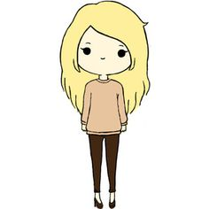 cute chibi girl from tumblr | hipster | Tumblr on We Heart It