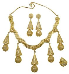 Banithani Traditional Gold Plated Necklace Earrings Set Wedding Jewelry Gift For Women -- Check this awesome product by going to the link at the image. Gold Plated Necklace, Gold Necklace, Wedding Jewellery Gifts, Earring Set, Gifts For Women, Jewelry Sets, Jewlery, Drop Earrings, Traditional