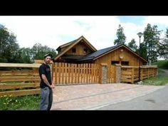 Modřínový plot u srubu - Přírodní bydlení