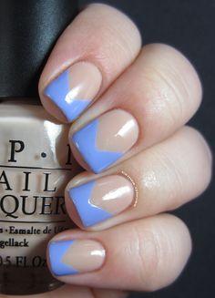Glitta Gloves: OPI chevron manicure