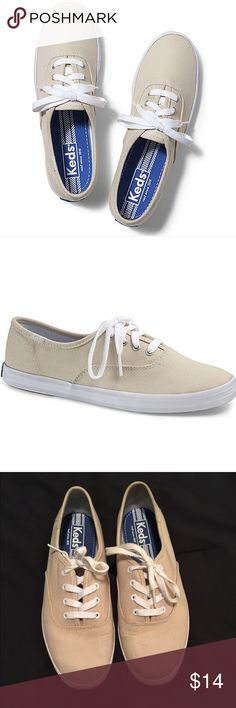 Keds Champion Originals Stone Lightly worn, classic canvas upper, cushioned insole, flexible rubber outsole. Perfect for spring and summer walks - lots of life left! I'm allergic to canvas so I have to sell them  Keds Shoes Sneakers
