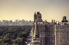 NYC. Summer morning on the Upper West Side looking south