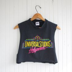 Vintage 90s Universal Studios Hollywood Crop by PaxSuburbiaGirls, $26.00